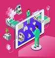 isometric telemedicine online medicine vector image