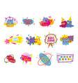 kid club art class or playroom badge label set