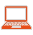 laptop computer isolated icon design vector image