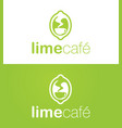 Lime cafe logo vector image