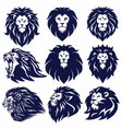 lion logo set collection design vector image vector image