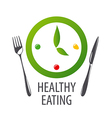 logo watches for healthy eating vector image vector image