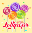 lollipop boutique poster sweets shop vector image vector image