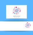 love restaurant logo identity vector image vector image