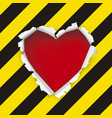 love under construction relationship concept vector image vector image