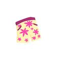 men s floral design of summer surf shorts vector image vector image