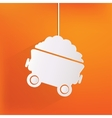 Mining coal cart icon vector image