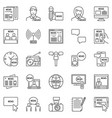news outline icons set - collection of vector image