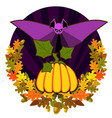 poster halloween day vector image