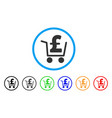 pound cash out rounded icon vector image vector image