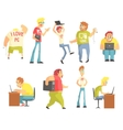 Professional Programmers Funny Characters Set vector image