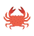 Red Crab Icon vector image vector image