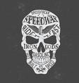 retro skull logo vector image vector image