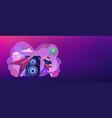 rock music concept banner header vector image vector image