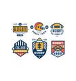rugcollege team logo design set vintage sport vector image vector image