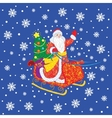 Russian Grandfather Frost in a sleigh vector image