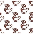 Seamless pattern with steaming cups of coffee vector image vector image