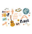 set icons friendship international day of vector image