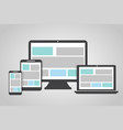 set of electronic devices on a gray background vector image vector image