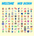 set of multicolored icons for your design vector image vector image