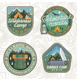 set of summer camp patches concept for vector image vector image
