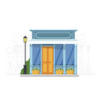 small shop house on urban cityscape silhouette vector image vector image