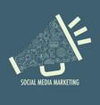 social media marketing template vector image vector image