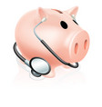 stethoscope piggy bank vector image vector image
