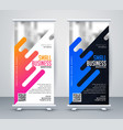 stylish standee design for your business vector image vector image