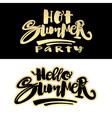 Summer concept hand lettering motivation poster vector image