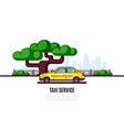 taxi service banner vector image vector image