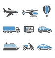 Transport Icons - A set of second vector image vector image