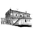 two-story house late 19th century in a vector image vector image