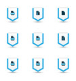 types icons colored set with text file cad file vector image vector image
