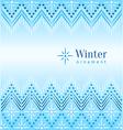 Vintage winter ethnic ornamental vector image vector image