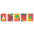 wallpaper collection with school items vector image