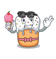with ice cream easter cake character cartoon vector image vector image