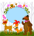 forest costume party vector image