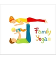 Family practicing yoga vector image