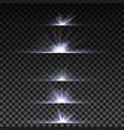 light effect horizontal dividers vector image