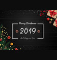 2019 happy new year and christmas background vector image vector image