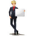 A man with an empty board vector image vector image