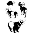 art animal silhouettes vector image vector image