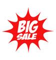big sale in comic splash icon vector image vector image