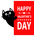 black cat holding big signboard cute cartoon vector image