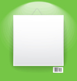 Blank frame on the wall vector image vector image