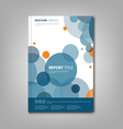 Brochures book or flyer with abstract blue circles vector image vector image