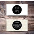 Business card template with creative retro pattern vector image vector image