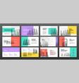 business presentation templates set vector image vector image
