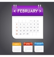 calendar february vector image vector image